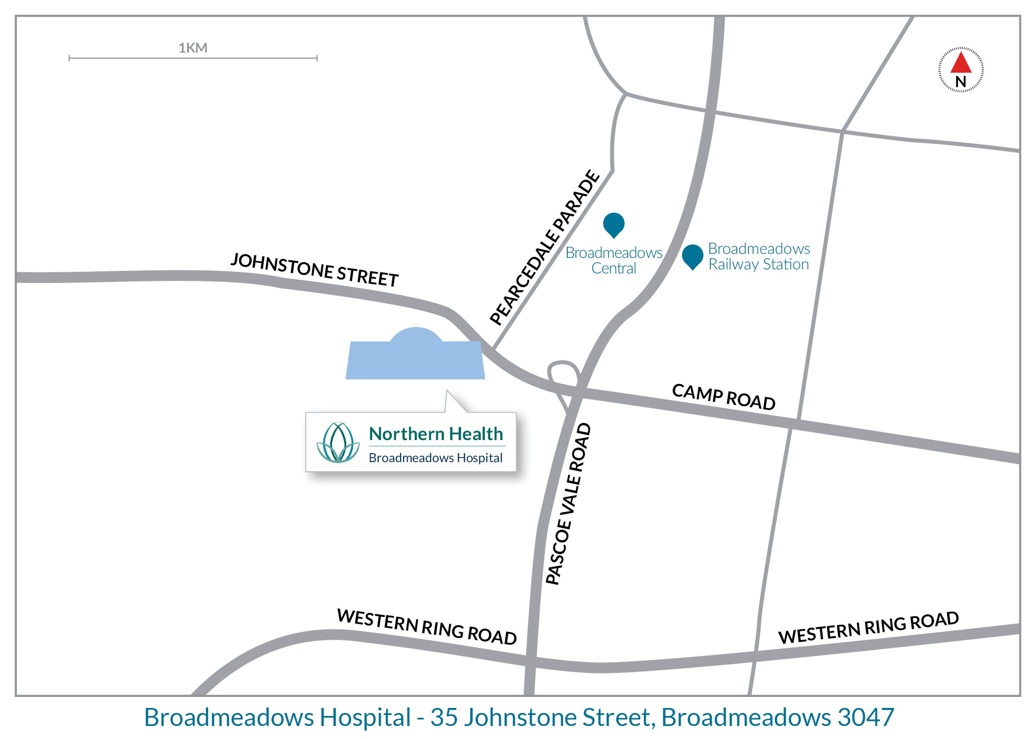 Broadmeadows Hospital map