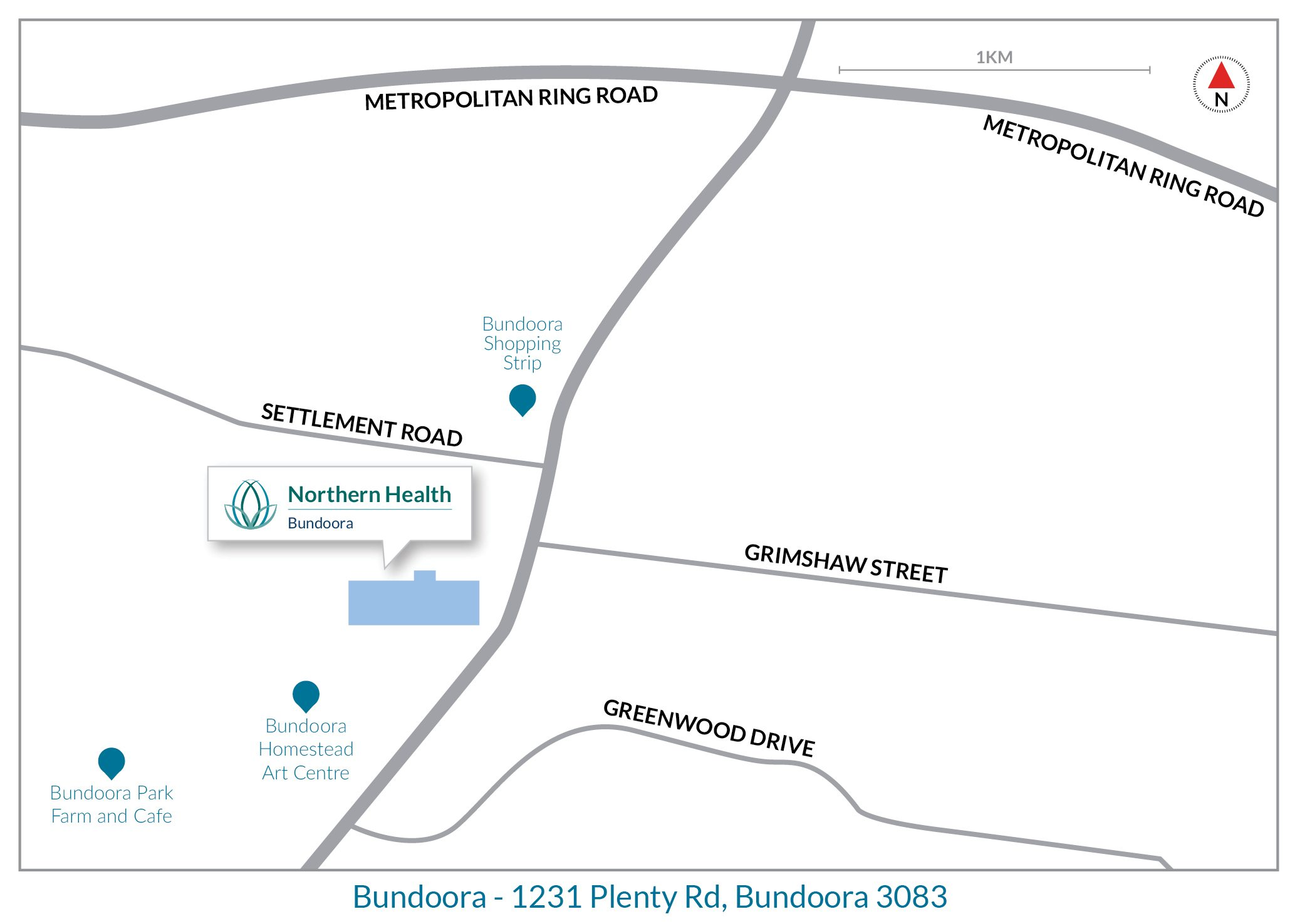 Bundoora map