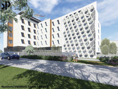 Northern Hospital Inpatient Building Stage 2 Design Render