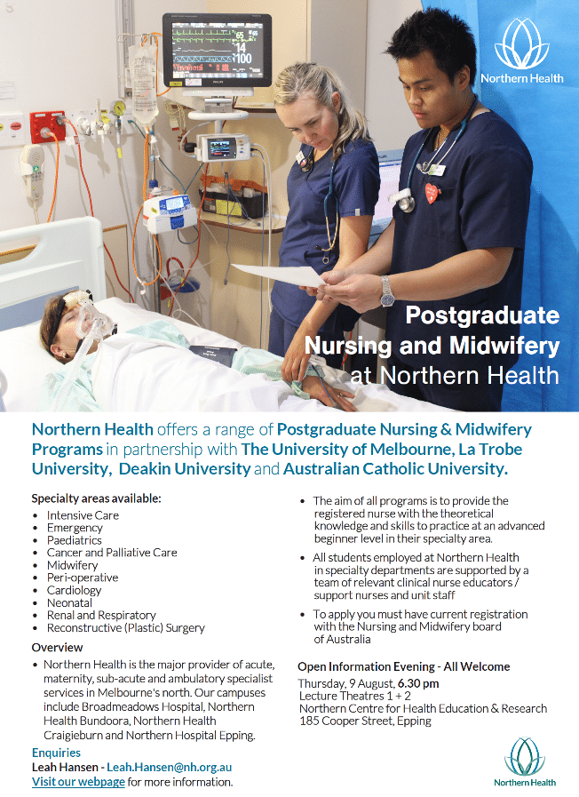 Graduate Certificate Clinical Nursing Specialty Northern Health