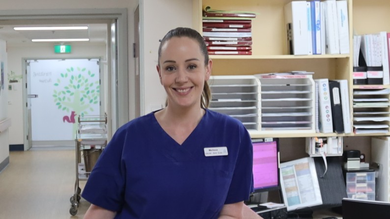 Melissa back at work at Northern Hospital